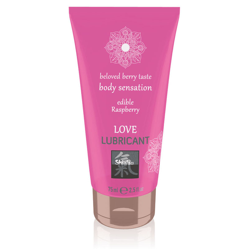 Shiatsu Edible Love Lubricant 75ml - Raspberry